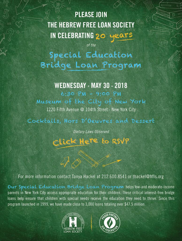 Special Education Bridge Loan Poster